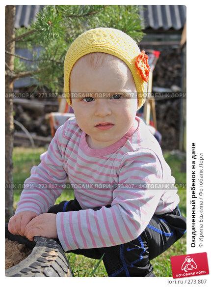 Озадаченный ребенок на даче, фото № 273807, снято 1 мая 2008 г. (c) Ирина Еськина / Фотобанк Лори