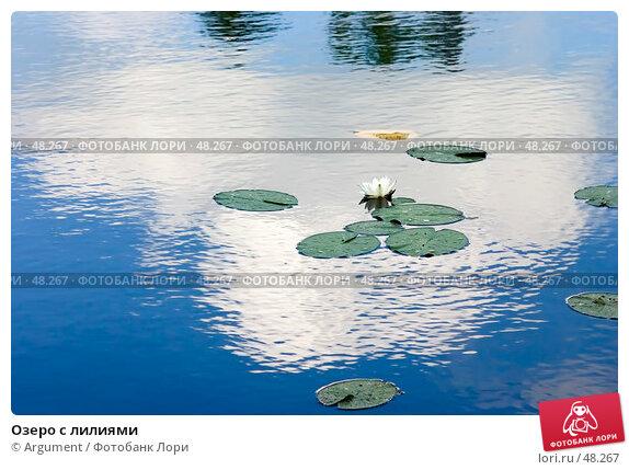 Купить «Озеро с лилиями», фото № 48267, снято 27 июля 2005 г. (c) Argument / Фотобанк Лори