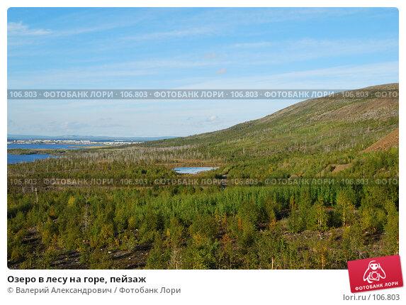 Озеро в лесу на горе, пейзаж, фото № 106803, снято 5 сентября 2007 г. (c) Валерий Александрович / Фотобанк Лори