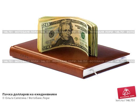 Купить «Пачка долларов на ежедневнике», фото № 146751, снято 1 июня 2007 г. (c) Ольга Сапегина / Фотобанк Лори