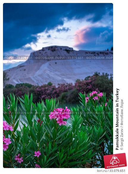 Купить «Pamukkale Mountain in Turkey», фото № 33079651, снято 14 июля 2019 г. (c) Sergii Zarev / Фотобанк Лори