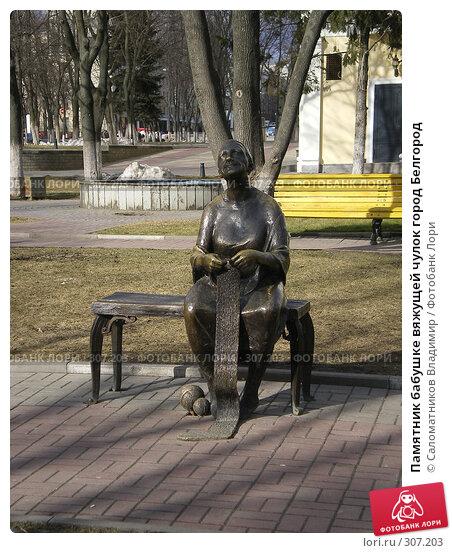 Памятник бабушке вяжущей чулок город Белгород, фото № 307203, снято 13 марта 2007 г. (c) Саломатников Владимир / Фотобанк Лори