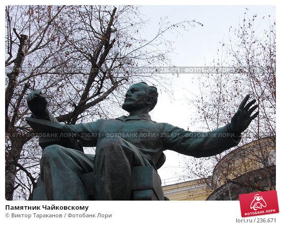 Памятник Чайковскому, эксклюзивное фото № 236671, снято 22 марта 2008 г. (c) Виктор Тараканов / Фотобанк Лори