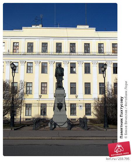 Памятник Пахтусову, фото № 233795, снято 26 февраля 2008 г. (c) Бяков Вячеслав / Фотобанк Лори