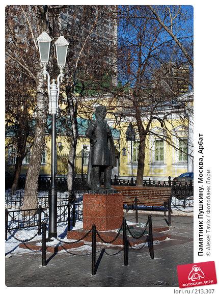 Памятник Пушкину. Москва, Арбат, эксклюзивное фото № 213307, снято 16 февраля 2008 г. (c) Alexei Tavix / Фотобанк Лори