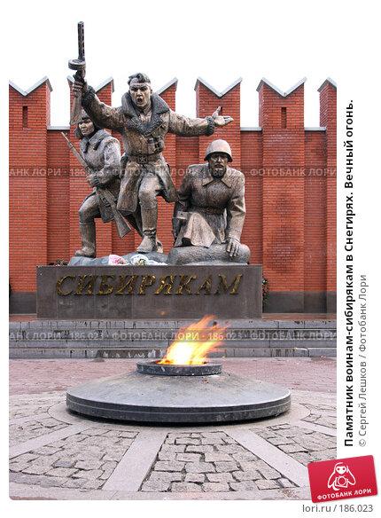 Купить «Памятник воинам-сибирякам в Снегирях. Вечный огонь.», фото № 186023, снято 4 ноября 2007 г. (c) Сергей Лешков / Фотобанк Лори
