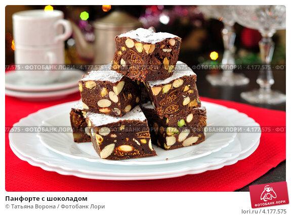 Купить «Панфорте с шоколадом», фото № 4177575, снято 21 декабря 2011 г. (c) Татьяна Ворона / Фотобанк Лори