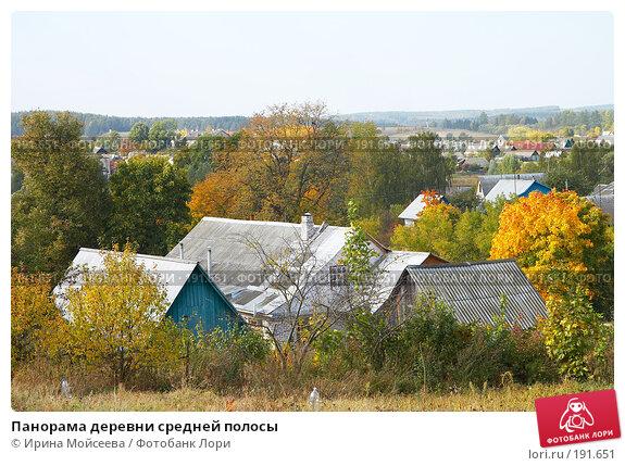 Купить «Панорама деревни средней полосы», эксклюзивное фото № 191651, снято 26 сентября 2007 г. (c) Ирина Мойсеева / Фотобанк Лори