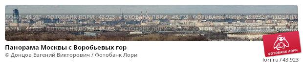 Панорама Москвы с Воробьевых гор, фото № 43923, снято 23 октября 2016 г. (c) Донцов Евгений Викторович / Фотобанк Лори
