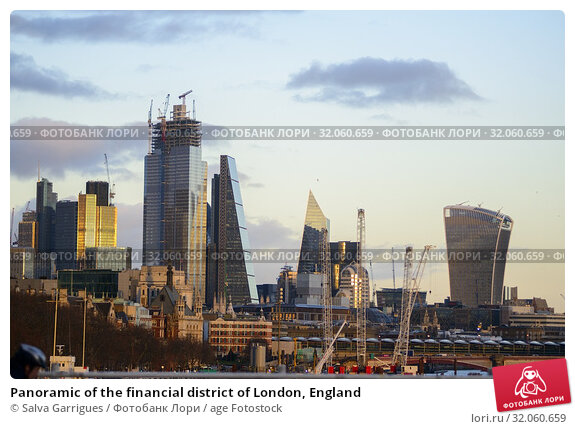 Panoramic of the financial district of London, England. Стоковое фото, фотограф Salva Garrigues / age Fotostock / Фотобанк Лори