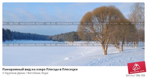 Панорамный вид на озеро Плесцы в Плесецке, фото № 186159, снято 24 октября 2016 г. (c) Крупнов Денис / Фотобанк Лори