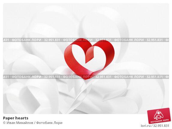 Paper hearts. Стоковое фото, фотограф Иван Михайлов / Фотобанк Лори