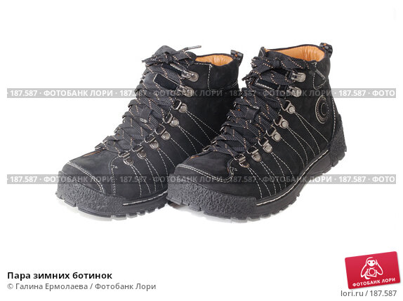 Пара зимних ботинок, фото № 187587, снято 4 января 2008 г. (c) Галина Ермолаева / Фотобанк Лори