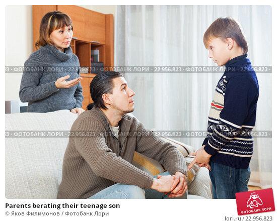 Купить «Parents berating their teenage son», фото № 22956823, снято 8 декабря 2019 г. (c) Яков Филимонов / Фотобанк Лори