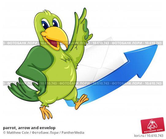 parrot, arrow and envelop. Стоковая иллюстрация, иллюстратор Matthew Cole / PantherMedia / Фотобанк Лори