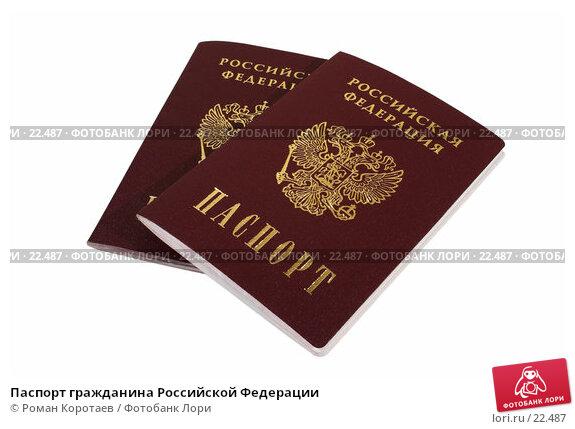 Паспорт гражданина Российской Федерации, фото № 22487, снято 10 марта 2007 г. (c) Роман Коротаев / Фотобанк Лори