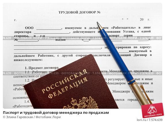 трудовой договор с Pr-менеджером образец img-1