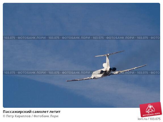 Пассажирский самолет летит, фото № 103075, снято 24 октября 2016 г. (c) Петр Кириллов / Фотобанк Лори