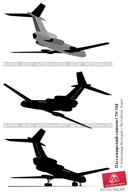 Пассажирский самолет ТУ-154, иллюстрация № 243907 (c) Александр Володин / Фотобанк Лори