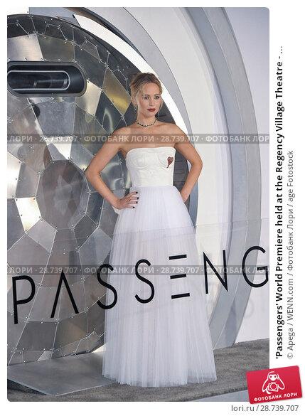 Купить «'Passengers' World Premiere held at the Regency Village Theatre - Arrivals Featuring: Jennifer Lawrence Where: Los Angeles, California, United States When: 15 Dec 2016 Credit: Apega/WENN.com», фото № 28739707, снято 15 декабря 2016 г. (c) age Fotostock / Фотобанк Лори
