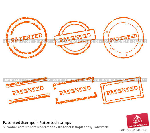 Patented Stempel - Patented stamps. Стоковое фото, фотограф Zoonar.com/Robert Biedermann / easy Fotostock / Фотобанк Лори