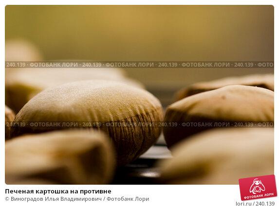 Печеная картошка на противне, фото № 240139, снято 22 октября 2007 г. (c) Виноградов Илья Владимирович / Фотобанк Лори