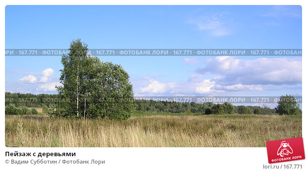 Пейзаж с деревьями, фото № 167771, снято 30 марта 2017 г. (c) Вадим Субботин / Фотобанк Лори