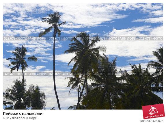 Купить «Пейзаж с пальмами», фото № 328075, снято 22 апреля 2018 г. (c) М / Фотобанк Лори