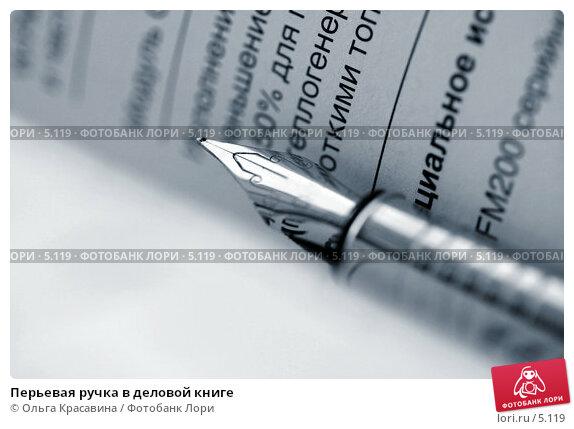 Перьевая ручка в деловой книге, фото № 5119, снято 13 июня 2006 г. (c) Ольга Красавина / Фотобанк Лори
