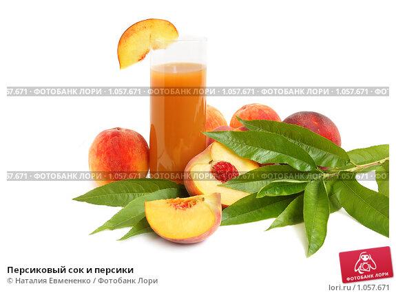 Купить «Персиковый сок и персики», фото № 1057671, снято 31 июля 2009 г. (c) Наталия Евмененко / Фотобанк Лори