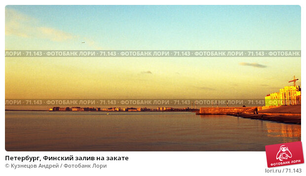Петербург, Финский залив на закате, фото № 71143, снято 17 января 2017 г. (c) Кузнецов Андрей / Фотобанк Лори