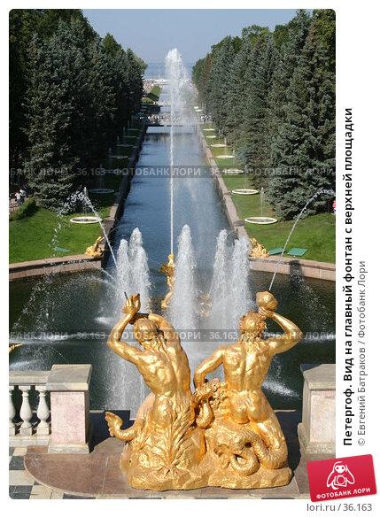 Петергоф. Вид на главный фонтан с верхней площадки, фото № 36163, снято 8 августа 2006 г. (c) Евгений Батраков / Фотобанк Лори