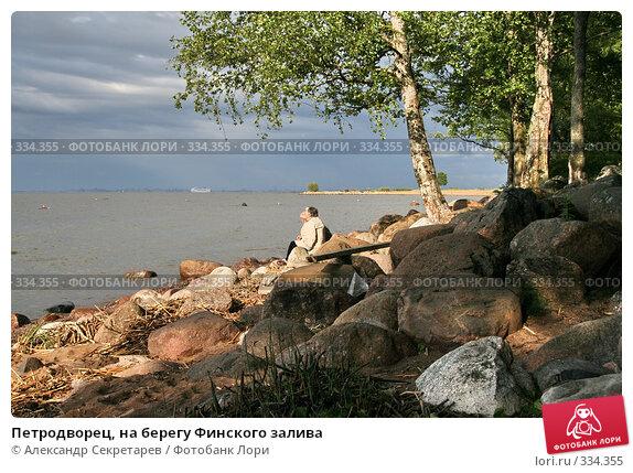 Петродворец, на берегу Финского залива, фото № 334355, снято 12 июня 2008 г. (c) Александр Секретарев / Фотобанк Лори
