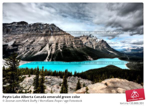 Купить «Peyto Lake Alberta Canada emerald green color», фото № 33800351, снято 8 июля 2020 г. (c) age Fotostock / Фотобанк Лори