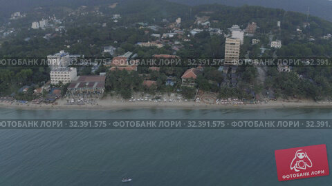 Купить «Phu Quoc Island rocks on the beach and blue Sea 4K Drone shot», видеоролик № 32391575, снято 3 ноября 2019 г. (c) Aleksejs Bergmanis / Фотобанк Лори