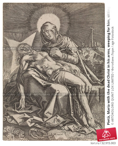 Pietà, Maria with the dead Christ in his arms, weeping for him, sitting on a stone., Pietà' ' Vesperbild ' ' Marienklage '(no others present): Christ,... Редакционное фото, фотограф ARTOKOLORO QUINT LOX LIMITED / age Fotostock / Фотобанк Лори