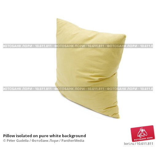 Pillow isolated on pure white background. Стоковое фото, фотограф Péter Gudella / PantherMedia / Фотобанк Лори
