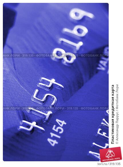 Пластиковая кредитная карта, фото № 319135, снято 18 декабря 2007 г. (c) Александр Паррус / Фотобанк Лори