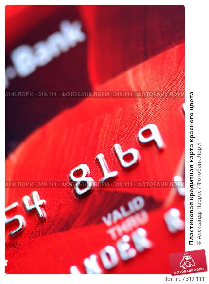 Купить «Пластиковая кредитная карта красного цвета», фото № 319111, снято 18 декабря 2007 г. (c) Александр Паррус / Фотобанк Лори