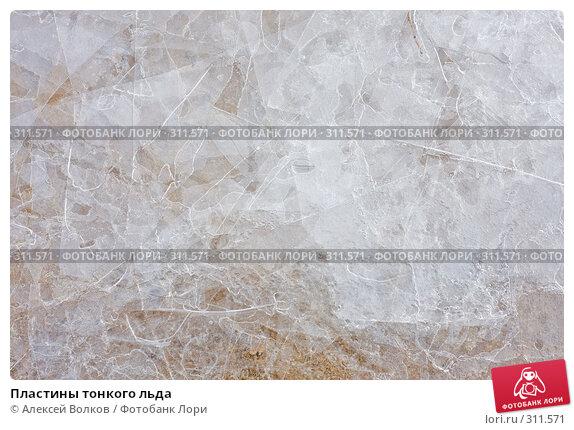 Пластины тонкого льда, фото № 311571, снято 5 апреля 2008 г. (c) Алексей Волков / Фотобанк Лори