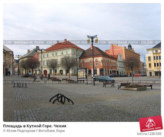 Площадь в Кутной Горе. Чехия, фото № 230539, снято 16 марта 2008 г. (c) Юлия Селезнева / Фотобанк Лори