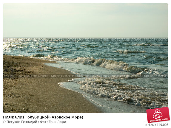 Пляж близ Голубицкой (Азовское море), фото № 149003, снято 9 августа 2007 г. (c) Петухов Геннадий / Фотобанк Лори