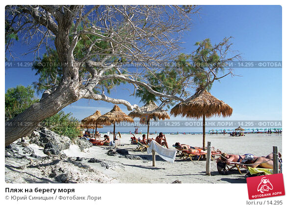 Пляж на берегу моря, фото № 14295, снято 29 мая 2017 г. (c) Юрий Синицын / Фотобанк Лори