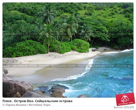 Пляж . Остров Маэ. Сейшельские острова, фото № 213215, снято 12 мая 2007 г. (c) Лариса Фокина / Фотобанк Лори
