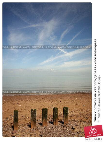 Пляж с остатками старого деревянного волнореза, фото № 4499, снято 5 июня 2006 г. (c) Tamara Kulikova / Фотобанк Лори