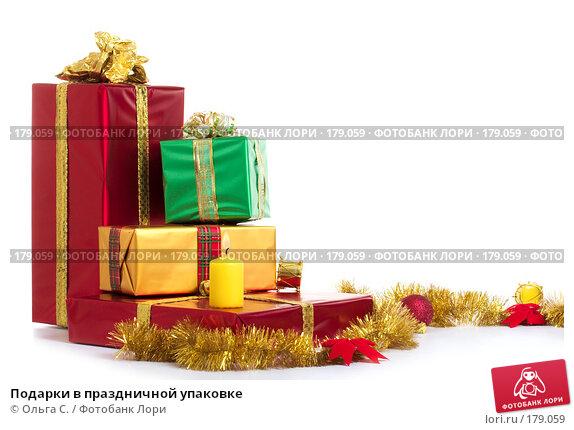 Подарки в праздничной упаковке, фото № 179059, снято 16 октября 2007 г. (c) Ольга С. / Фотобанк Лори