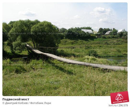 Подвесной мост, фото № 296579, снято 2 августа 2006 г. (c) Дмитрий Кобзев / Фотобанк Лори