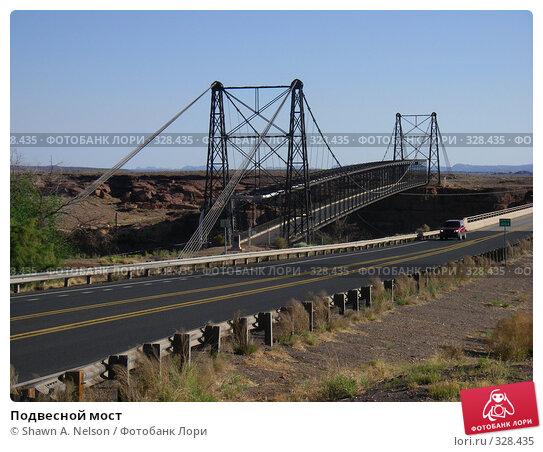 Подвесной мост, фото № 328435, снято 29 мая 2008 г. (c) Shawn A. Nelson / Фотобанк Лори