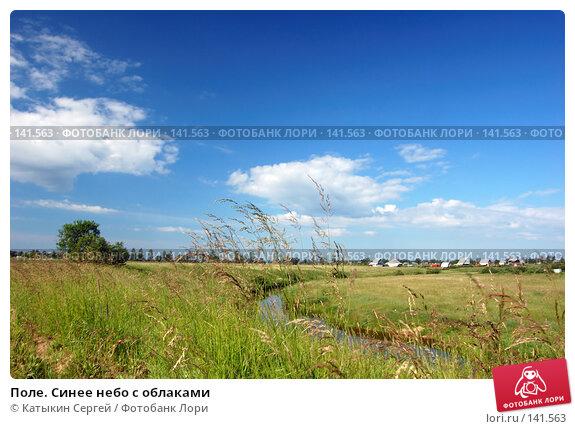 Поле. Синее небо с облаками, фото № 141563, снято 24 июня 2007 г. (c) Катыкин Сергей / Фотобанк Лори