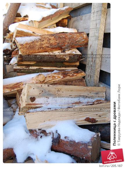 Поленница с дровами, фото № 205187, снято 19 февраля 2008 г. (c) Тавруева Надежда / Фотобанк Лори